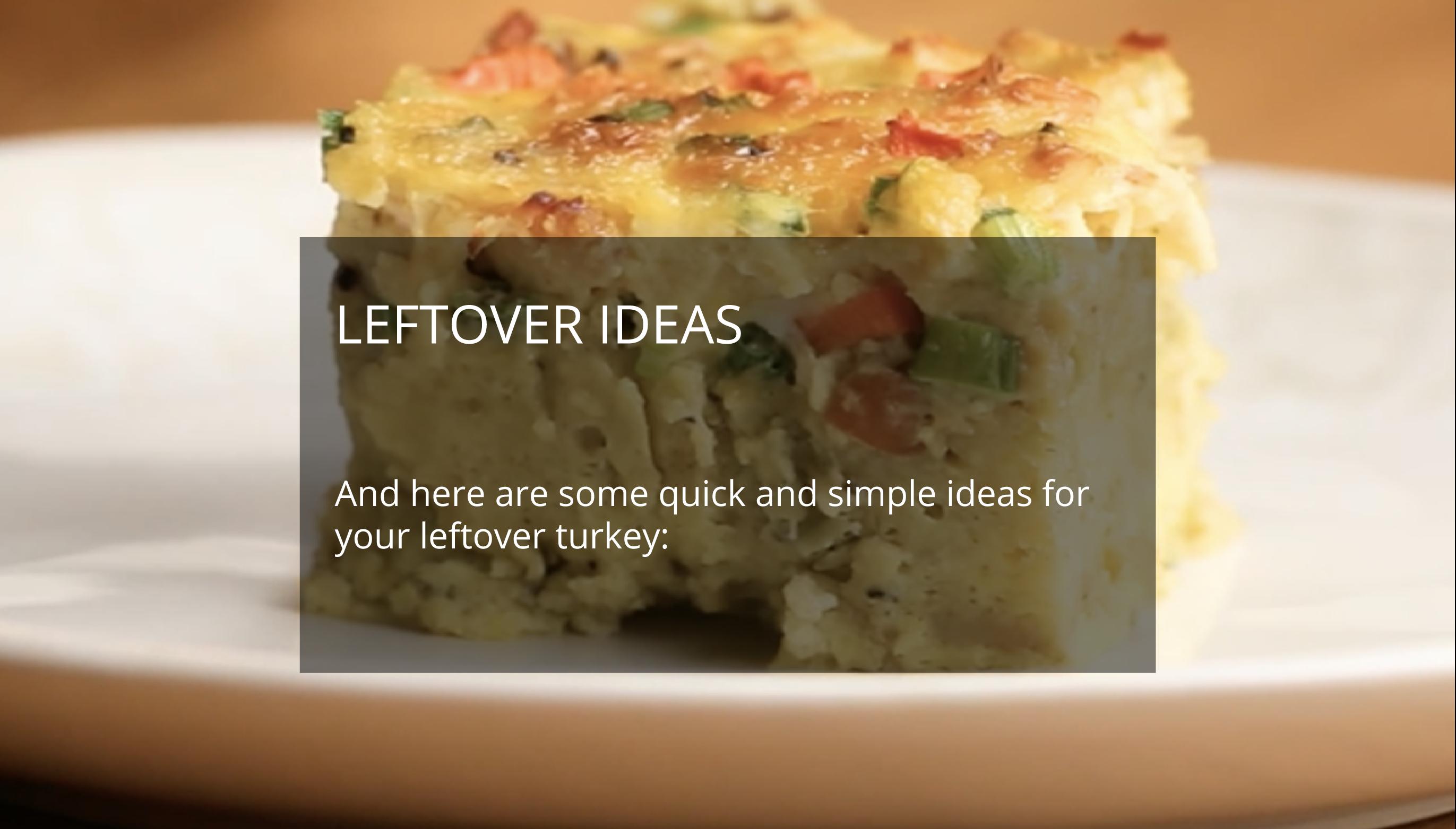 Leftover Ideas